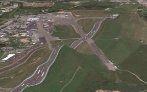 Picture: Apple maps turn Vilnius airport into a rollercoaster