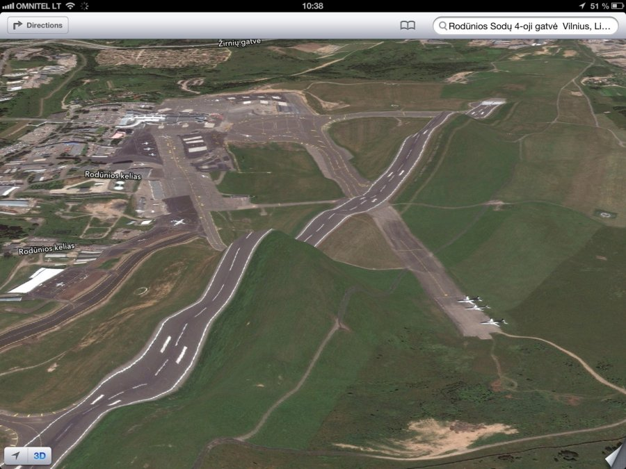 Vilnius Airport roller coaster ios maps iphone photo